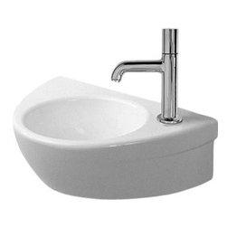 Duravit - Duravit - Handrinse basin 15 Inch Right tap hole Starck 2 - 0761380008 - Starck-2 Series