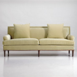 Palm Beach Sofa Jan Showers - Refinement and comfort come together in this classic sofa, which was inspired by Palm Beach style.
