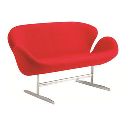 Fine Mod Imports - Swan Wool Sofa - Features: