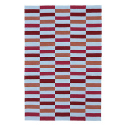 "Kaleen - Kaleen Matira MAT03 (Cranberry) 5' x 7'6"" Rug - Matira is inspired from the absolutely beautiful and breathtaking secluded beaches of Bora Bora. White powdery sand, crystal clear blue waters, and the lush botanical surroundings embrace every aspect of this collection. Each rug is UV protected and handmade with 100% Polypropylene. Complete with our special ""K-Stop Non-Skid Backing"", Matira will be your perfect anchor to a magical getaway."