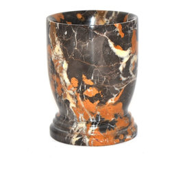 Nature Home Decor - Bathroom Accessories Tumbler of Michelangelo Marble - The Michelangelo Marble Bathroom Accessory Tumbler is part of the bathroom accessories of Michelangelo Marble in design Series 300 offered exclusively by Nature Home Decor.