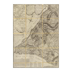 Antique Folded New York Map Art, Unframed