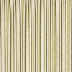 Green and Beige Thin Stripe Woven Upholstery Fabric By The Yard - This woven upholstery fabric will look great on any piece of furniture. It is woven for durability and appearance. It is great for all indoor upholstery and fabric related projects.