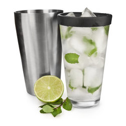 Boston Shaker - This classically designed Boston Shaker is easy to use to mix your favorite cocktails. Its sleek design looks great at any bar and the stainless steel makes mixing drinks effortless.