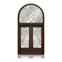 Iron Collection | 2734 - Iron, Hardware: 2.- Flush Bolts with Extension Arms, 2.- Roller Catches,  4.- Casement Latches,  Hinges: 6.- Heavy Duty Hinges,  Exterior Door
