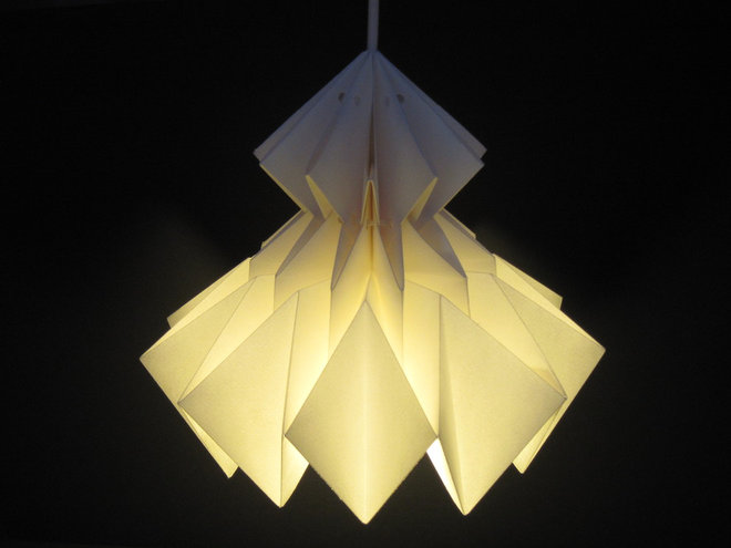 9 pendant lights with origami allure - Artistic d lamp shade designed with modern and elegant shape style ...