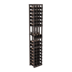 Wine Racks America - 3 Column Display Row Wine Cellar Kit in Pine, Black + Satin Finish - Make your best vintage the focal point of your wine cellar. High-reveal display rows create a more intimate setting for avid collectors wine cellars. Our wine cellar kits are constructed to industry-leading standards. You'll be satisfied. We guarantee it.