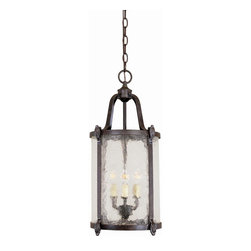 World Imports - Old Sturbridge Outdoor 3 Light Hanging Lanter - Manufacturer SKU: WI166389. Bulbs not included. Elegant English style lanterns that can hang outdoors. Seedy Glass and our Bronze Finish. Old Sturbridge Collection. 3 Lights. Power: 60W. Type of bulb: Candelabra. Bronze finish. 10 ft. Chain & 12 ft. Wire. Canopy 5.25 in. H. 11 in. D x 23 in. H (9.3 lbs.)