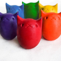 """""""Babys First Colors"""" 6-pack Colorway - These colorful kitties are actually crayons, and they're sized perfectly for little hands. Crayons are one of the most classic toys to encourage creativity."""
