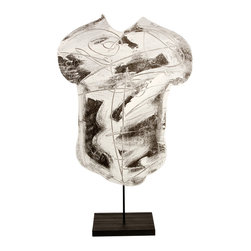 Studio Eight - Contemporary Modern Abstract Sculpture, SILVER TORSO, by Charles Sabec, 2014. - SILVER TORSO.