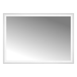 """Posters 2 Prints, LLC - 38"""" x 27"""" Rounded White Lacquer Custom Framed Mirror - 38"""" x 27"""" Custom Framed Mirror made by Posters 2 Prints. Standard glass with unrivaled selection of crafted mirror frames.  Protected with category II safety backing to keep glass fragments together should the mirror be accidentally broken.  Safe arrival guaranteed.  Made in the United States of America"""