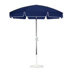 California Umbrella 7.5 ft. Aluminum Push Button Tilt Sunbrella Patio Umbrella - A long-time favorite, the California Umbrella 7.5 ft. Aluminum Push Button Tilt Sunbrella Patio Umbrella makes it easy to add colorful shade to your patio. Steel wire ribs complete a perfect patio-style canopy, and the simple crank-open frame makes the umbrella very easy to use. The tough aluminum frame is matched by the innovative use of an advanced collar tilt design. This style separates tilt position control from the user-friendly, crank-to-open feature. You'll have a complete range of tilt positions at your fingertips with this resilient, easy-to-use umbrella frame. Have fun with your space by giving it the vintage touch of this patio-style umbrella.About California UmbrellaCalifornia Umbrella is known for producing high-end, quality patio umbrellas and frames for over 50 years. The California Umbrella trademark is immediately recognized for its standards in engineering and innovation among all the brands in the United States. As a leader in the industry, California Umbrella strives to provide you with products and service that will satisfy even the most demanding consumers. Its umbrellas are constructed to give the consumer many years of pleasure, and its canopy designs are limited only by the imagination. California Umbrella is dedicated to providing artistic, innovative, fashion-conscious, and high-quality products for all your needs.