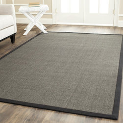 Safavieh - Safavieh Hand-woven Natural Fiber Charcoal/ Charcoal Sisal Rug (10' x 14') - Safavieh's Natural Fiber collection is inspired by timeless casual designs crafted with the softest sisal available.