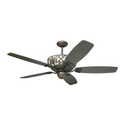"RLogan - 60"" ceiling fan with reversible blades and light in motor housing. Light kit adaptable"