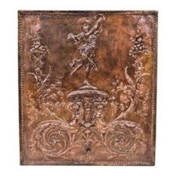 truly remarkable late 19th century copper plated ornamental fireplace summer cov -