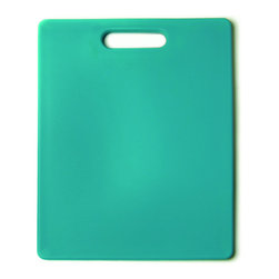 Architec Original Gripper Cutting Board Turquoise - The Architec Original Gripper Cutting Board features 300+ soft gripping feet which are thermally bonded to the durable  polypropylene cutting surface.  Dishwasher safe.  Award winning design.            Product Features                        Soft feet allow cutting surface to grip countertop            Non skid            Polypropylene construction            Dishwasher-safe