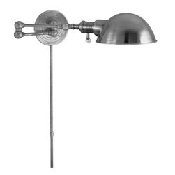 Visual Comfort & Co. - Visual Comfort & Co. SL2920AN/SLE-AN Studio Boston 1 Light Swing Arm Lights/Wall - This 1 light Swing-Arm Wall Sconce from the Studio Boston collection by Visual Comfort will enhance your home with a perfect mix of form and function. The features include a Antique Nickel finish applied by experts. This item qualifies for free shipping!
