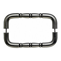 """Top Knobs - Nouveau Ring Back to Back Door Pull - Pewter Antique - Length - 8 3/4"""",Width - 3/4"""",Projection - 2 1/2"""",Center to Center - 8"""",Base Diameter - 3/4"""""""