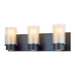 DVI LIghting - Dvi Lighting DVP9043ORB-BS 3 Light Vanity - DVI Lighting DVP9043ORB-BS 3 Light Vanity
