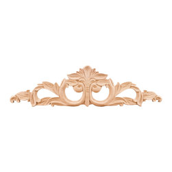 Hardware Resources - Rubberwood Onlays Acanthus Onlays and Appliques - Bring visual interest to flat areas with these lovely appliqués. Add your unique touch to a doorway, mantel, window or ceiling. Combine different onlays for endless possibilities and creative whimsy.