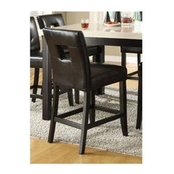 Homelegance - Archstone Counter Height Chair - Set of 2 - Choose Upholstery: Black
