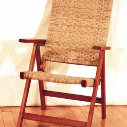 Achla - Peabody Woven Outdoor Folding Chair - A woven folding chair that combines the lightweight design of a woven chair with the convenience that comes with a folding chair.  Perfect for summer relaxation and outdoor fun with all the family, this woven folding chair is one of our customers' favorites.  Here's a perfect balance of style and comfort.  Folding wood frame with wicker back and seat bring a decided joy to the outdoors.  It's a classic design that complements natural surroundings and will maintain its durable finish stored or left to the seasons. * Made from Eucalyptus Grandis wood. 24 in. W x 27 in. D x 38 in. H