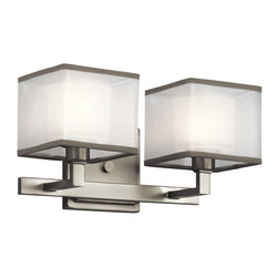 "Kichler - Kichler 45438NI Kailey 13.5"" Wide 2-Bulb Bathroom Lighting Fixture - Product Features:"