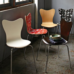 Scoop-Back Chair - I love these chairs for their shape and different colors and patterns.