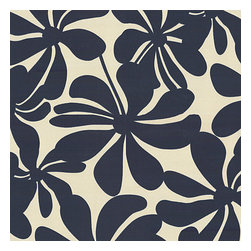 Navy & White Graphic Floral - Recover your chair. Upholster a wall. Create a framed piece of art. Sew your own home accent. Whatever your decorating project, Loom's gorgeous, designer fabrics by the yard are up to the challenge!