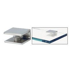 "Frameless Shower Doors, Frameless Glass Enclosures - CRL Square Interior Shower Shelf Clamp-Will Hold 1/4"" to 3/8"" (8 to 10 mm) Glass"