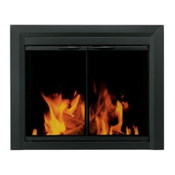 Pleasant Hearth Carlisle Cabinet Fireplace Screen and Smoked Glass Doors - Black - Reduce heat loss by 90% and improve the look of your decor with the Pleasant Hearth Carlisle Cabinet Fireplace Screen and Smoke Glass Doors - Black. Its one-piece frame construction is designed for mounting against flat surfaces and can be installed in 3 easy steps. It features handles, hidden damper-control knobs for airflow, easy catch magnets, and heat-resistant insulation.About GHP GroupGHP Group creates electric fireplaces, accessories, log sets, and other heating options found in homes across America. With years of experience and a close attention to detail, their products exceed industry standards of safety, quality, durability, and functionality. Whether you're warming a room or just making a relaxing glow, there's a GHP Pleasant Hearth product for you.