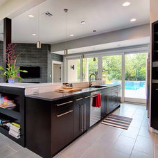 Contemporary Kitchen Cabinetry by Kitchens by Bell, LLC