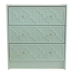 """O'verlays® Jasmine Kit for IKEA Rast 3 Drawer: 7.125"""" x 22.75"""" x 1/4"""" (3) - O'verlays® Jasmine Kit for IKEA® Rast 3 Drawer: 7.125"""" x 22.75"""" x 1/4"""" (3)"""