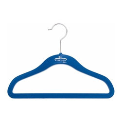 Clos-ette Too - Clos-ette Too Signature Skinny Hanger for Kids, Blue Set of 10 - Our Signature Skinny Hanger for Kids is the ultimate children's closet accessory. The Skinny Hanger for Kids is flocked in a velvety non-slip material, ensuring your child's garments stay put. And because we use the highest quality composites and fabric, our hangers never snap, unlike other brands on the market. We guarantee you'll find our clothing hangers to be longer lasting and better for your clothes than the competition.