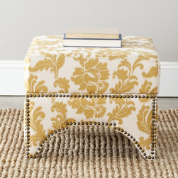 Safavieh - Safavieh Sahara Floral Beige Square Storage Ottoman - Sahara ottoman features a stylish design inspired by combining traditional elements with a modern twist