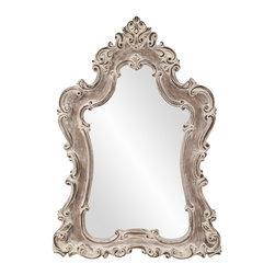 Howard Elliott - Guinevere White Wash Mirror - Guinevere White Wash Mirror