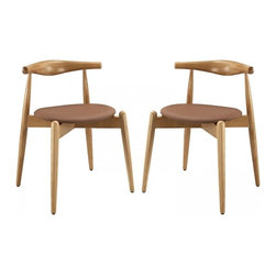 Modway Imports - Modway EEI-1377-NAT-TAN Stalwart Dining Side Chairs Set of 2 In Natural Tan - Modway EEI-1377-NAT-TAN Stalwart Dining Side Chairs Set of 2 In Natural Tan