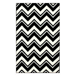 """RugsUSA - Contemporary 7' 6"""" x 9' 6"""" Black Hand Tufted Area Rug Chevron GD43 - Made from the finest materials in the world and with the uttermost care, our rugs are a great addition to your home."""