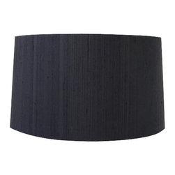 "15"" diameter black silk shade. - 15"" diameter black silk shade."
