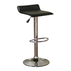 American Heritage - American Heritage Aviator Adjustable Bar Stool in Chrome - Ideal for any counter height, the Aviator's sleek, minimalist design fits perfectly with both modern and retro decor. Boasts a chrome finish with a black vinyl cushion, a full-bearing 360 degree swivel, and Gas Lift height adjustment so everyone can sit at their most comfortable level. What's included: Stool (1).