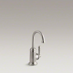 KOHLER - KOHLER Wellspring(R) beverage faucet with traditional design - This Wellspring beverage faucet adds convenience and elegance to your kitchen. Pair this traditional faucet with a bar/prep sink and an undercounter water filter or chiller for easy access to pure, refreshing drinking water. A gooseneck swing spout makes