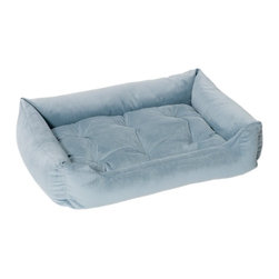 Jax & Bones - Jax & Bones Everyday Nest Bed Caribbean Blue Large - Built like a sofa with extra length for dogs who like to stretch. Made with heavy weight velour fabrics and filled with Sustainafill, our signature eco-friendly fiber. Fabric is 100% machine washable.