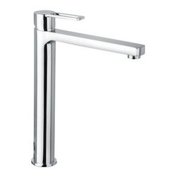 WS Bath Collections Ringo 081 CR Single Hole Bathroom Faucet - Those looking for a grand and impressive fixture need only look upon the WS Bath Collections Ringo 081 CR Single-Hole Bathroom Faucet. Clean crisp lines converge at a strikingly cylindrical base that rises 12.2-inches in height. Its sleek simplicity is conveyed through an authentic Italian design forged from durable metal in a high-quality polished chrome finish that's resistant to both tarnish and corrosion. This modern deck-mounted faucet is easy to install and is operated by a single lever handle that controls how many gallons per minute you pour and helps you achieve the ideal temperature for washing and food-prep. All parts are designed to work with standard U.S. plumbing connections and are backed by the manufacturer's warranty. Product Specifications ADA Compliant: No Mount Type: Deck Mount Handle Style: Lever Spout Height: 10 in. Spout Reach: 8 in. About WS Bath CollectionsA tradition of fine handcraftsmanship warmth of material and beauty of design characterizes this company's exclusive collection of fine bathroom and kitchen products. The collections include innovative and distinctive sinks washbasins washstands bathtubs bathroom furniture and complementary accessories that provide inspirational solutions for every imaginable decor.