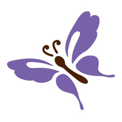 My Wonderful Walls - Garden Butterfly Stencil 5 for Painting - - Butterfly wall stencil