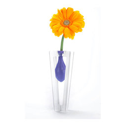 "Working Class Studio - Corey Collection Vase - Small - Includes Six Assorted 9"" Balloons - Fill your home with flowers, color and fun via these amazing vases. The acrylic frame, cheekily mirroring the shape of a traditional vase, utilizes an ordinary balloon as the water vessel. Pick up a bunch and place them all over to refresh any setting."