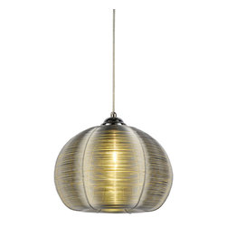 Bromi Design - Bromi Design Lenox 1 Light Round Silver Pendant - Stainless steel just got a new lease on light in this dazzling pendant. If yours is a contemporary or modern decor this light is a quiet, elegant touch of restraint. In a more traditional space, this light will steal the show.