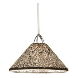 WAC Lighting - Micha Chrome Mini Pendant with Mirror Shade - -Mirror Shade  -Whether a sparkling starlit sky, a warm summer�s sun or an early winter frost, Micha brings the comforting warmth of nature into your home with hand crafted crushed glass glimmering with light. WAC Lighting - MP-559-MR/CH