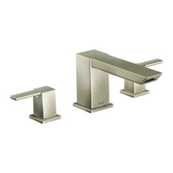 Moen - Moen 90 Degree Two-Handle High Arc Roman Tub Faucet, Faucet and Shower Only - Moen TS903BN 90 Degree Two-Handle High Arc Roman Tub Faucet, Faucet and Shower Only, Brushed Nickel