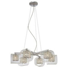 George Kovacs KP806077 Jewel Box Mid Sized Chandelier Chandelier - Chrome at Fer