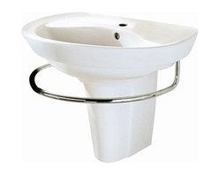 "American Standard - American Standard Ravenna Pedestal Sink Top Sink With 8 Centers, White - American Standard 0268.008.020 Ravenna Pedestal Sink Top Sink with 8"" Centers, White"